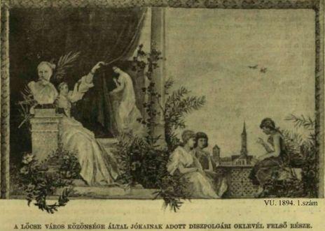 VU. 1894. 1.sz. Lócse díszpolgára