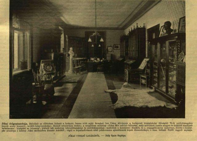 VU._1904._jún._5._Jókai_dolgozószobája