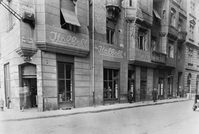 Rákóczi tér 9, Német utca 1957 Fortepan 3554
