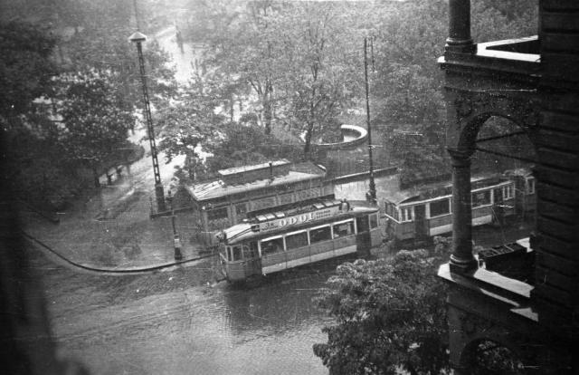 Rákóczi tér a Kölcsey utcából nézve, 1944 - 78298