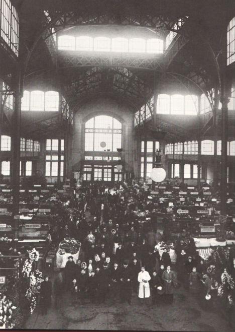 Rákóczi téri vásárcsarnok 1900 körül-Klösz fotó 1