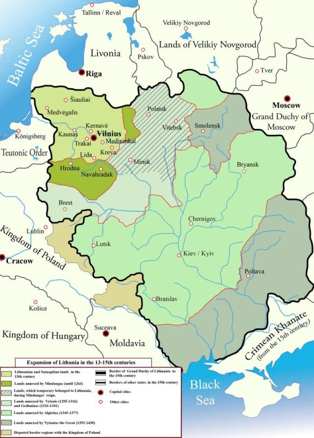 litvánia terjeszkedése 13-15.sz.