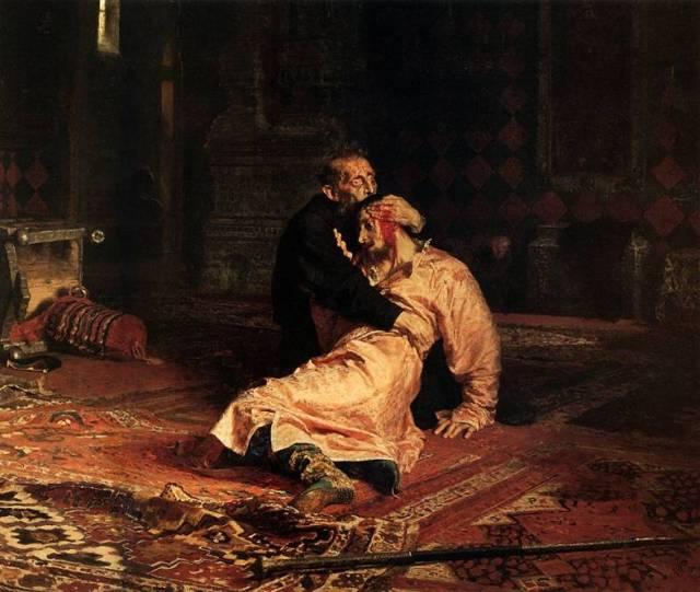 Repin-Rettegett Iván és fia (1885)