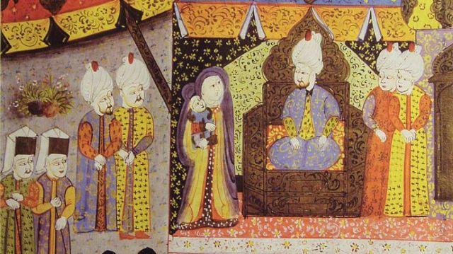 suleimannak-bemutatjak-a-csecsemo-janos-zsigmondot-buda-1541-torok-miniatura-reszlet