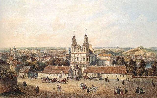vilnius_panorama-zygmut-vogel-1764-1826-vilniaus-misionieriu-bazycia