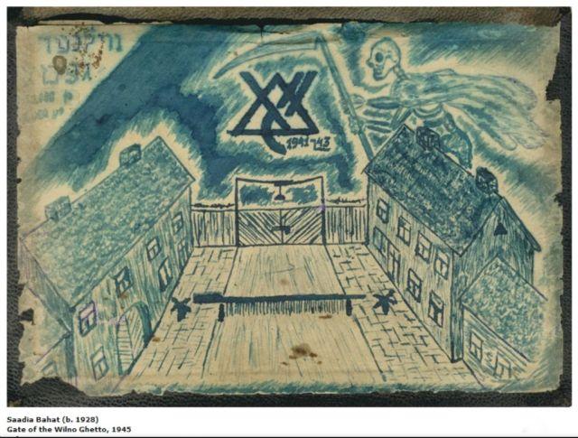 wilno-ghetto-gates-1945rajz-saadia-bahat-b-1928
