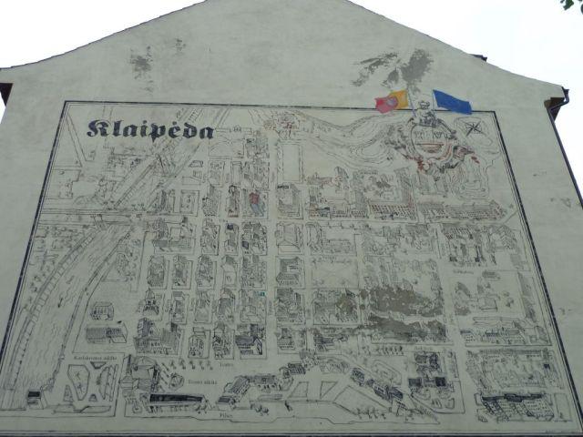 Klaipeda P1640761 térkép a házfalon