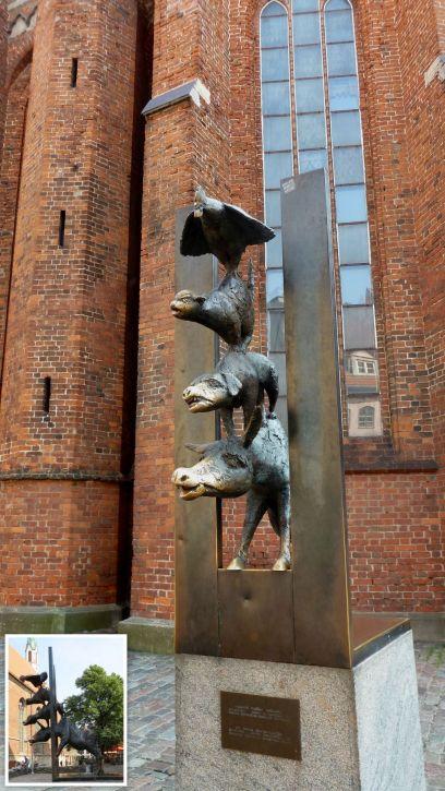 Riga, Brémai muzsikusok, kollázs