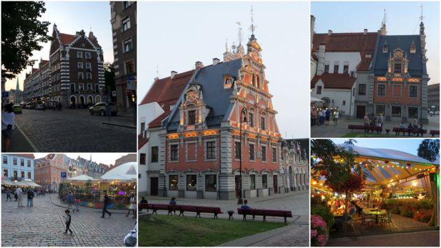Riga, esti képek - kollázs