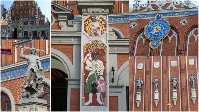 Riga, Feketefejűek háza, kollázs 2
