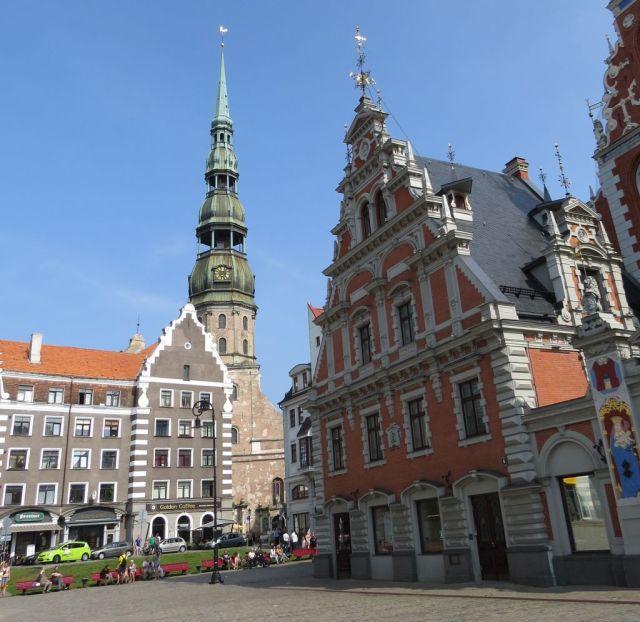 Riga IMG_7540 Gyö Városháza tér és Szt. Péter templom