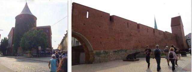 Riga, Lőportorony, és városvédő fal. kollázs