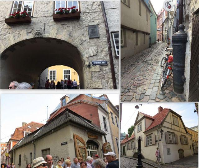 Riga, Svéd kapun belül, Troksnu iela, kollázs