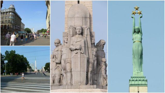 Riga, Szabadság szobor kollázs