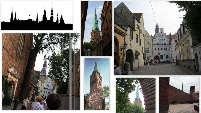 Riga, Szt. Jakab - és a Dóm között, koll