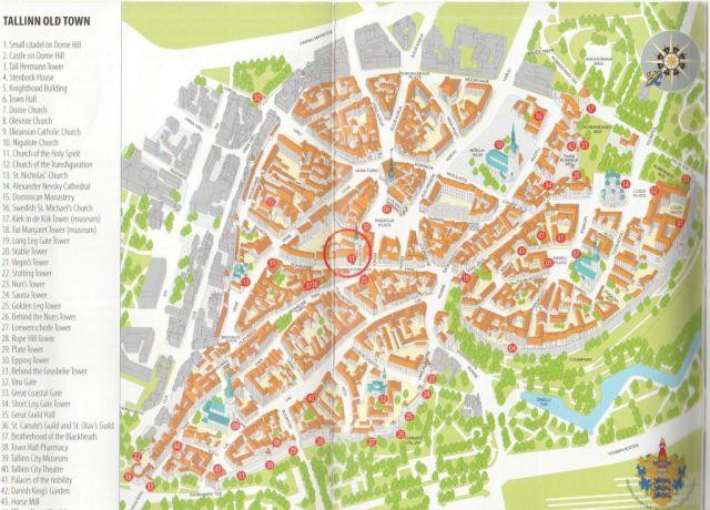 térkép, Tallin, old town