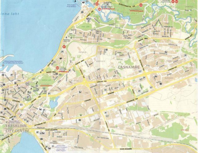 Pirita térkép részlet