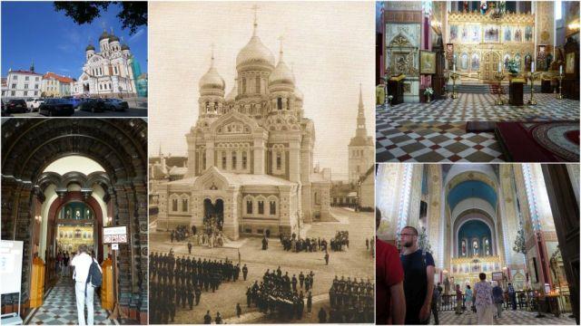 Tallinn - A.Nyevszkij katedrális, kollázs