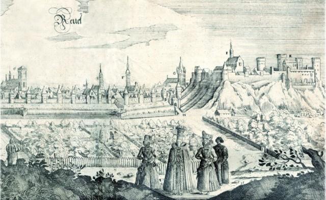 Tallinn látkép, 1647- gravírozás A.-Oleariuse könyvben