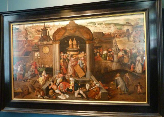 Tallinn P1650675 Kadriorg, Ismeretlen holland művész 1570 - Jézus kiűzi a templomból a kufárokat és pénzváltókat