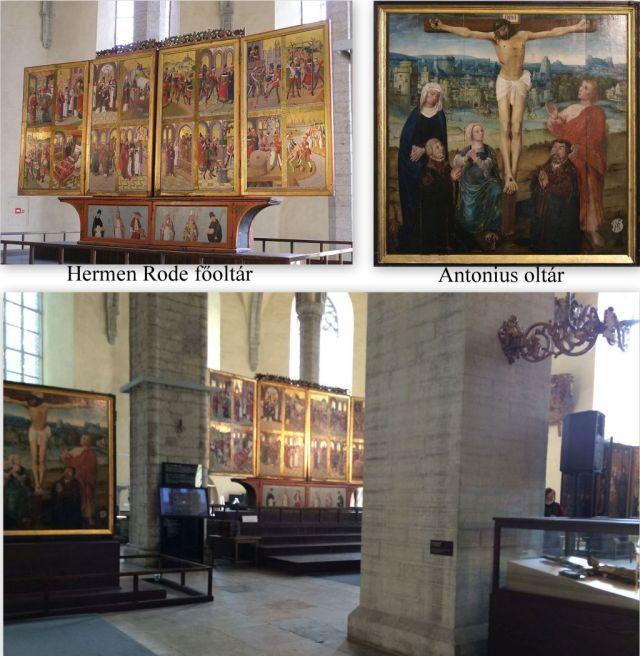 Niguliste, Főoltár és Antonius oltár kollázs