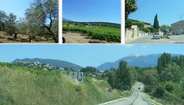 Úton Provence felé, kollázs