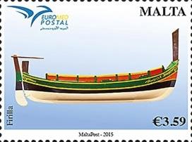 ferilla, malta-euromed-boat-stamp-2015