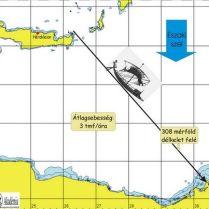 Görög hajók sebességének meghatározása, kreta-nilus