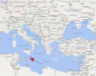 Málta helye a térképen