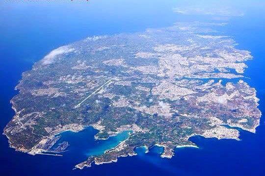 Málta légi felvétel
