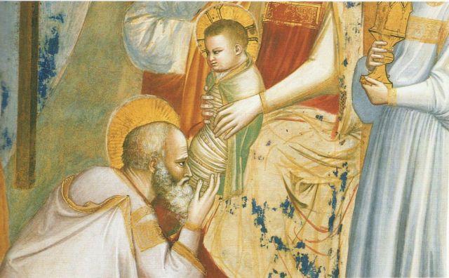 Giotto - Háromkirályok imádása, részlet 2