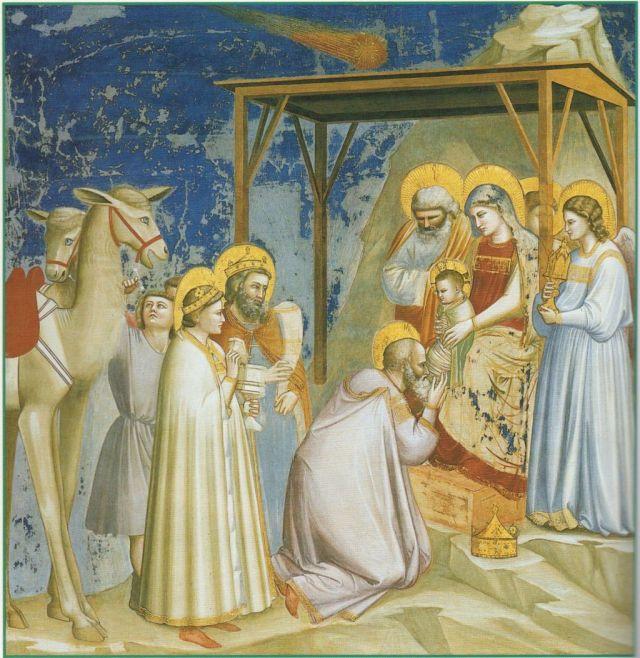 Giotto -Háromkirályok imádása, Scrovegni kápolna Padova