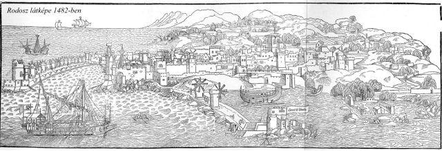 Rodosz látképe 1482-ben