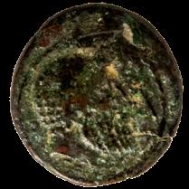 Coin_03_Romano-Maltese-bronze-sextans-Obv -Előlap, fej BC 211