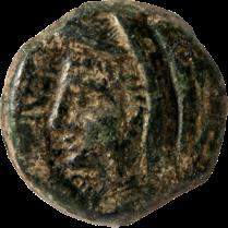 Coin_04_Romano-Maltese-bronze-semis, Málta görögül, Balbus propraetor BC 37-35