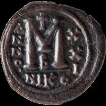Coin_06_Byzanthine-follis, bronz AD 548