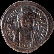 Coin_06_Byzanthine-follis, bronz AD 548_Rev Justinianus