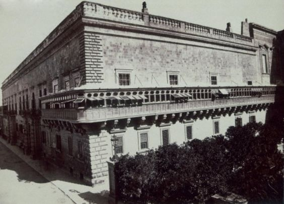 Governor's Palace Valletta, 1880