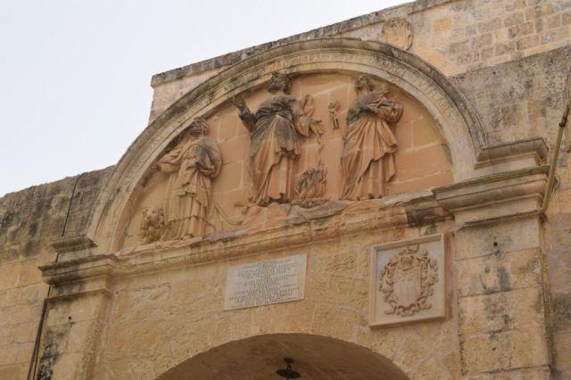 IMG_1080 3.nap V Mdina, Főkapu belső, St.Publius, St.Paul, St.Agatha,