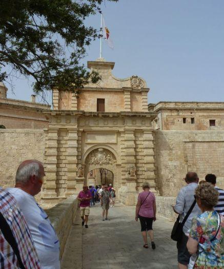 Málta P1680096 Mdina, főkapu- Mdina gate