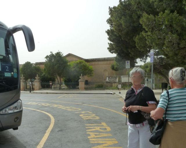 Málta P1680223 Mdina, busz állomás, Domus Romana