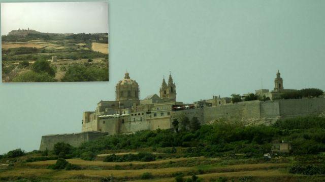 Mdina, a dombon, Martfa felől