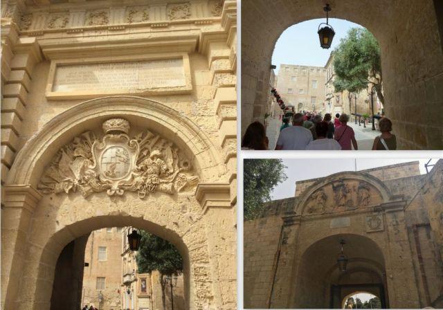 Mdina- főkapu 2 oldala