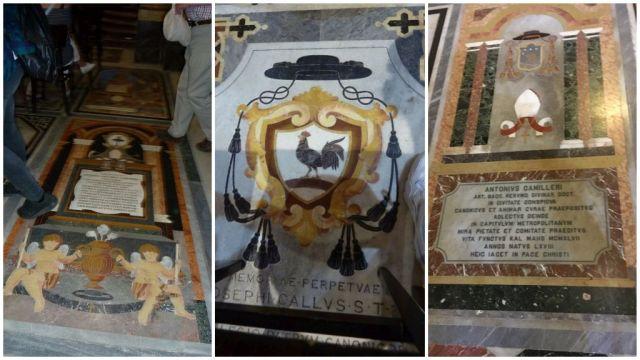 Mdina, katedrális márvány padló