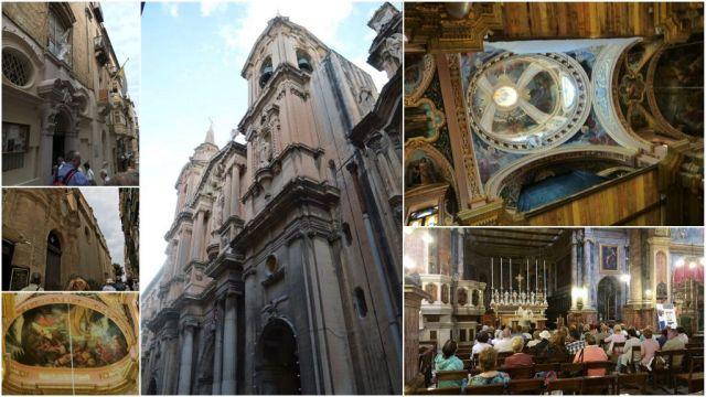 Szt. Pál hajótörés temploma- kollázs