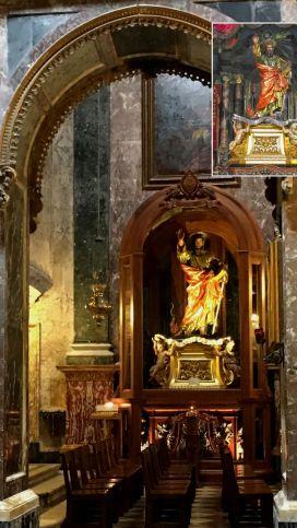 Szt.Pál tituláris szobra, Hajótörés templomában, Valletta