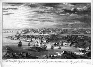Malta;_view_of_the_quarantine_area._Etching_by_M-A._Benoist, cca. 1725_Wellcome_L0019027