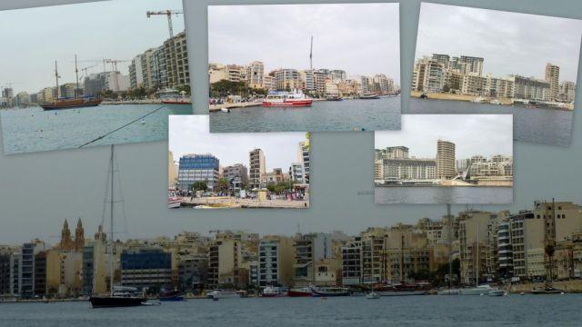 Sliema kikötő- kollázs