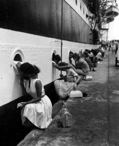 Departure of the Amerigo Vespucci, Egypt, 1963