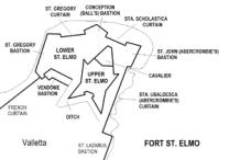 Fort és Valletta map